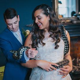 Pleasssssssed to meet you by Paul Duane - Wedding Bride & Groom ( bride, groom, nature, snake, animal, reptile, wedding,  )