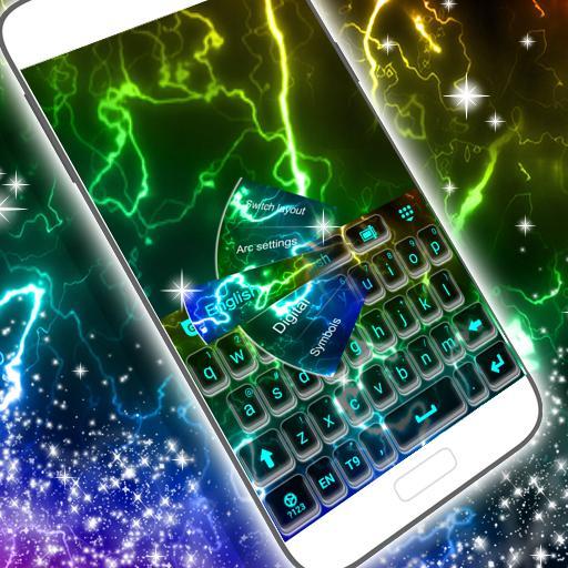 个人化のキーパッド色ネオン LOGO-記事Game