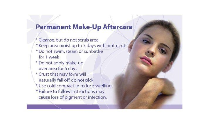 Image result for Aftercare guide of permanent makeup procedure