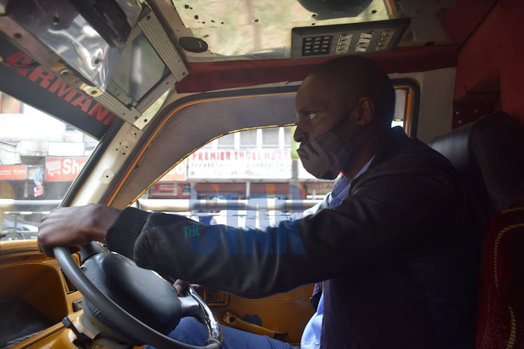Vincent Ayodi a driver operating between the CBD and Eastleigh.