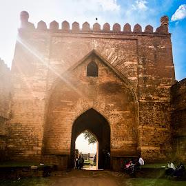 Main Enterence by Vaibhav Jain - Buildings & Architecture Statues & Monuments ( enterence, qila, bidar, monuments, walls, architecture, fort,  )