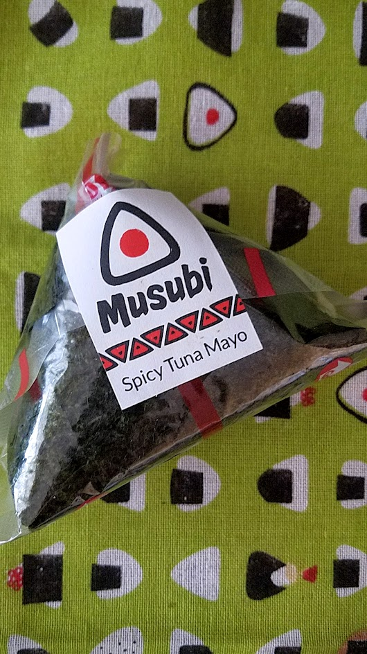 Musubi Portland's Spicy Tuna Mayo onigiri, a mix of albacore tuna with Kewpie Japanese mayo and shichimi seven spice mix