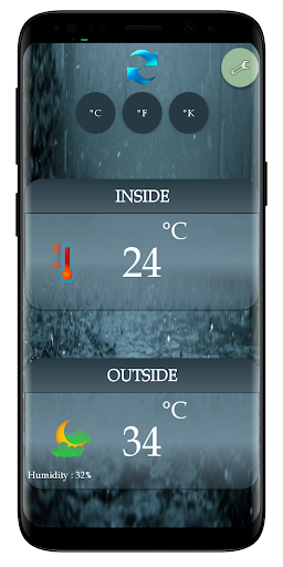 Thermometer Room Temperature (Inside, Outside) screenshot 2