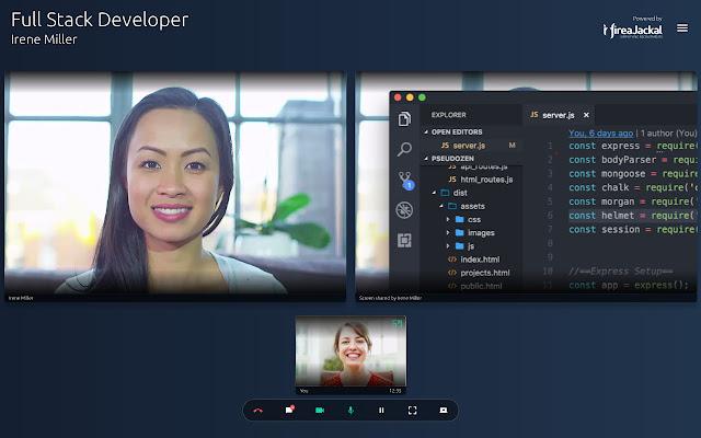 HireaJackal Web Meeting Screen Share