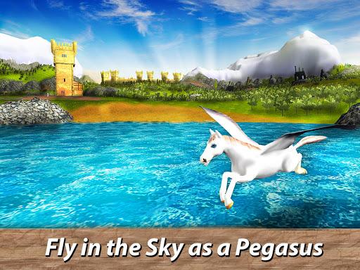 ud83eudd84ud83cudf08u2764ufe0f Pegasus Simulator: Flying ud83dudc0e Horse Survival 1.1 screenshots 5