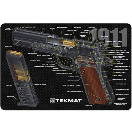 TekMat 1911 3D Cutaway Gun Cleaning Mat