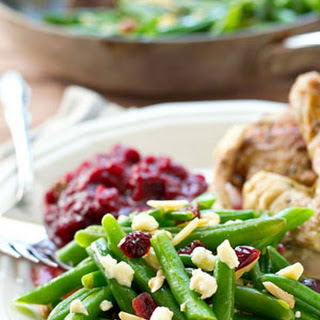 Browned Butter Cranberry Green Beans with Blue Cheese