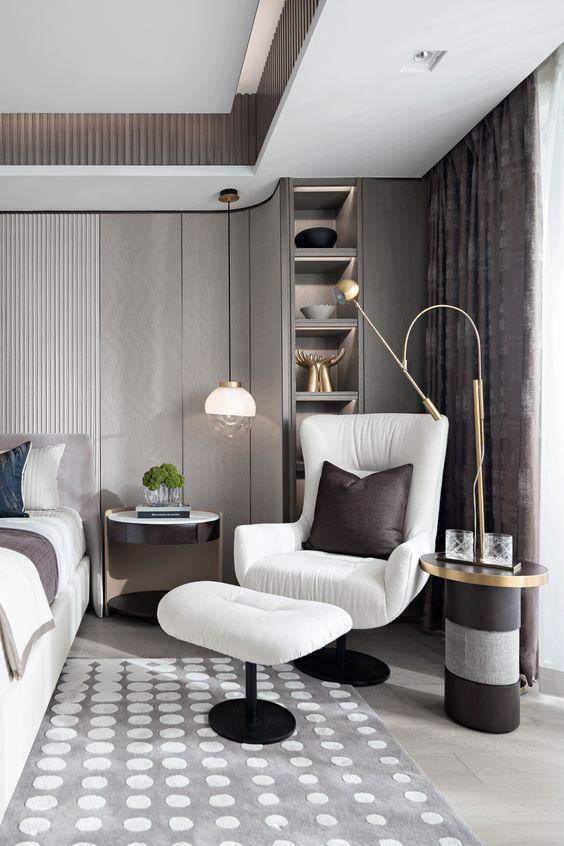 Bedroom Sitting Area Ideas with Single Seating