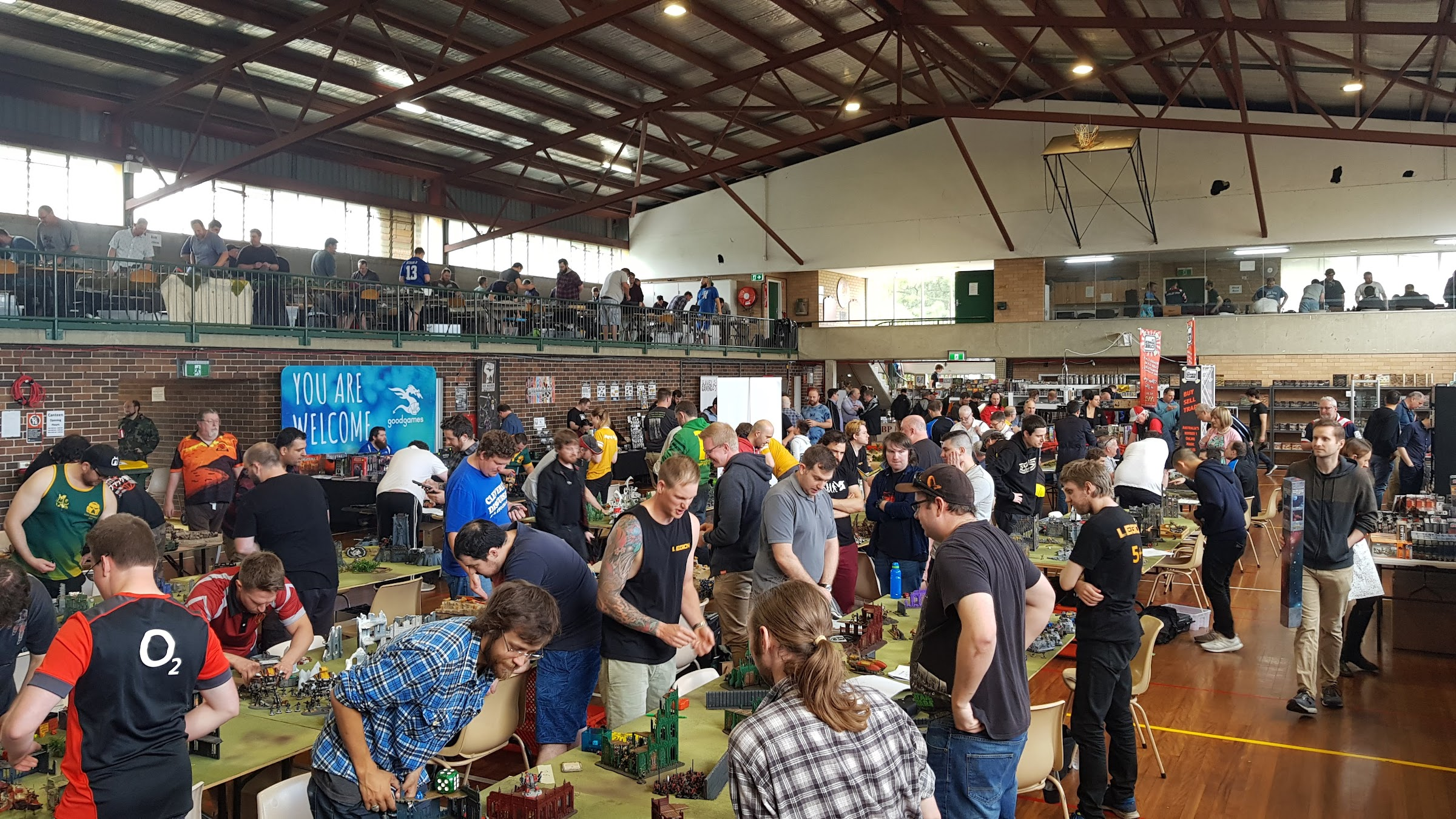 The main hall ... 1 of 7 different spaces full of gaming goodness!