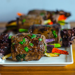 Flank Steak Wrapped Veggie Rolls
