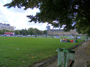 Photo: An always pleasant Sunday stop is the Invalides Esplanade, with soccer, boules, and general lounging around all popular on a sunny afternoon.