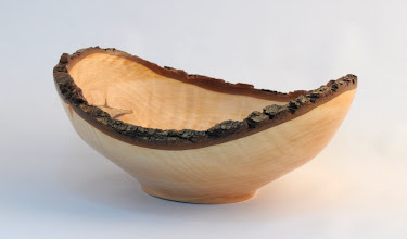 "Photo: Gary Nickerson - Natural-edge Bowl - 8"" x 4"" - Bradford Pear"