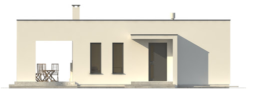 G201 - Budynek rekreacyjny z sauną - Elewacja przednia