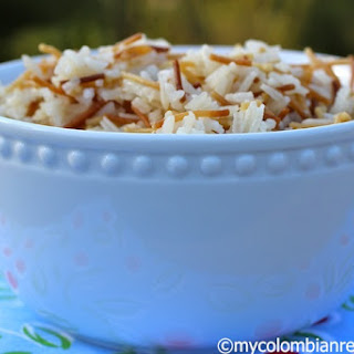 Arroz con Fideos (Rice with Angel Hair Pasta)