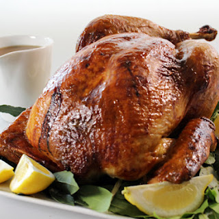 Honey Mustard Glazed Turkey with Thyme and Pancetta Stuffing
