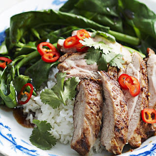 Five-Spice Chicken with Asian Greens.