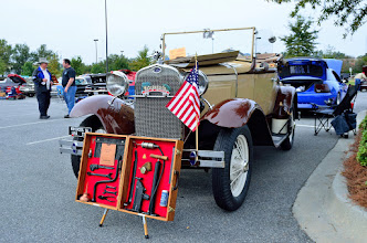 Photo: Slowing it down with a Model A. See the jug?