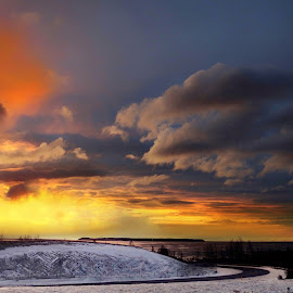 Sunset Anchorage by Patricia Phillips - Landscapes Sunsets & Sunrises ( alaska anchorage sunsets winter )