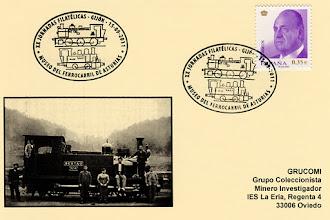 Photo: Matasellos de las XX Jornadas Filatélicas del Grupo de Gijón en el Museo del Ferrocarril