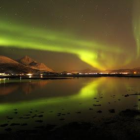 Nordlys. Lofoten by Karl-roger Johnsen - Landscapes Starscapes
