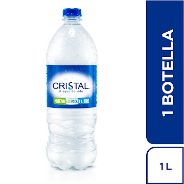 Agua Cristal EcoPack x 1   Litro