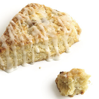 Lemon-Glazed Banana Scones with Crystallized Ginger