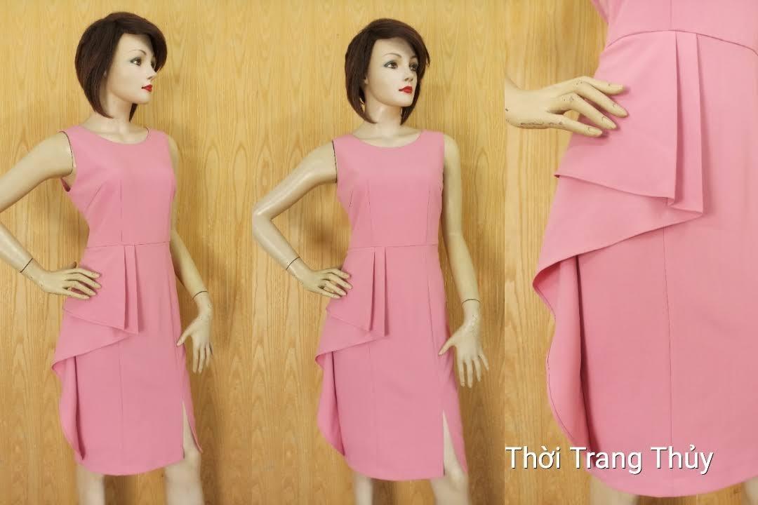 Váy peplum dáng bút chì cho người béo bụng V622 Thời Trang Thủy