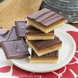 Ganache Topped Caramel Bars