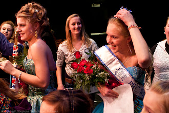 Photo: Alison Cornellier is greeted by friends and family after being crowned the 2013 Winter Carnival Queen.(Zachary P. Stephens/Brattleboro Reformer)