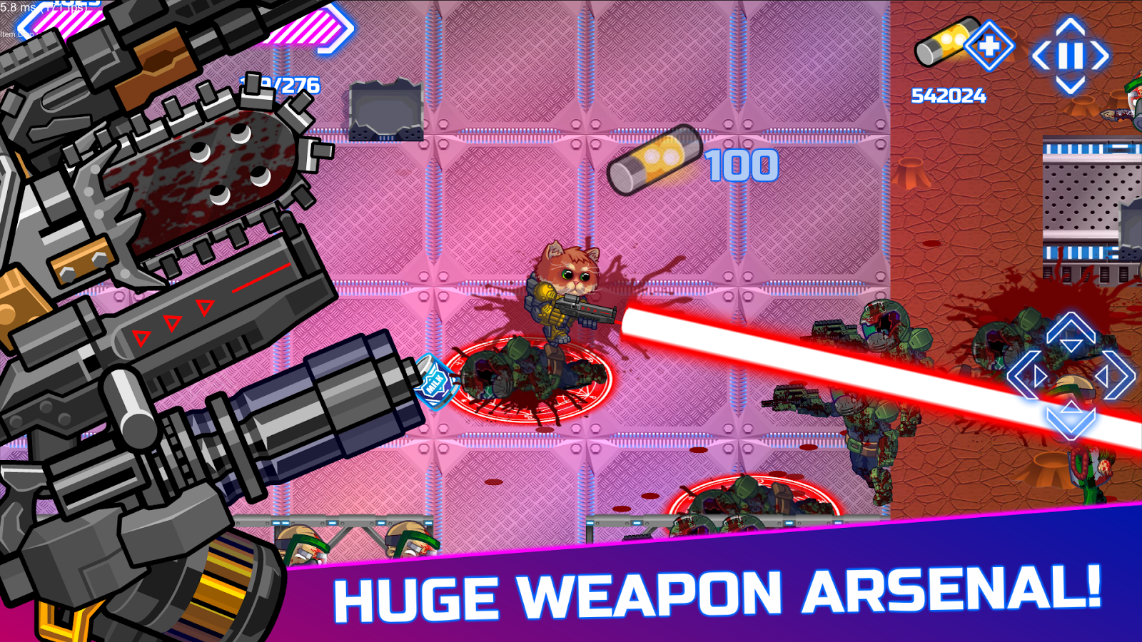 Armored Kitten: Zombie Hunter- screenshot