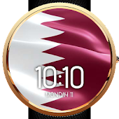 Animated Quatar Flag WatchFace