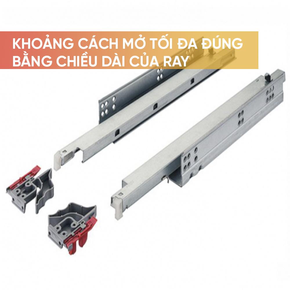Khoảng mở ra tối đa của ngăn kéo = chiều dài ray