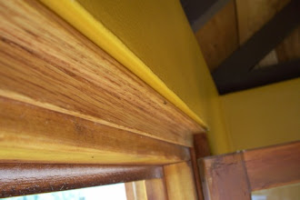 """Photo: Here's a close up of the inverted """"L"""" trim I used to finish the inside of the windows."""