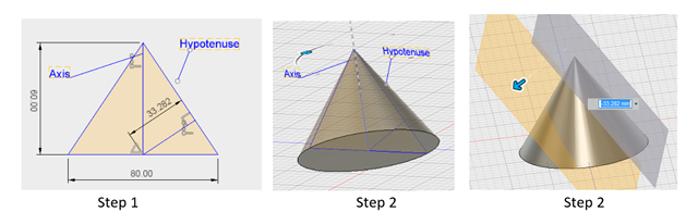 Parabolic reflector design steps 1, 2 & 3