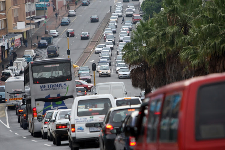 Traffic chaos in Johannesburg.
