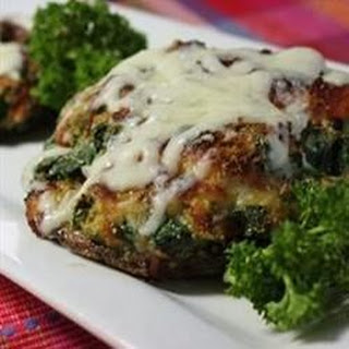 Spinach Stuffed Portobello Mushrooms.