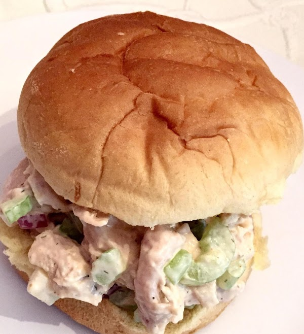 Add mayonaise mixture to chicken mixture. Stir to combine well. Serve in sandwich wraps,...