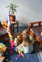 Photo: Anne and Addi decided that their doll house needed a princess tower