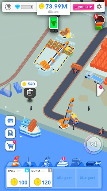 Idle Port Tycoon - Sea port empire Android App Screenshot