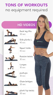 Workout for Women. Female fitness training at home