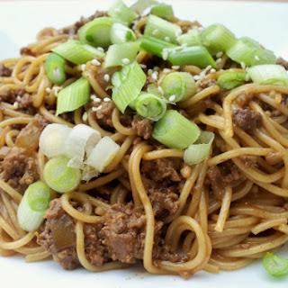 Spicy Beef Szechuan Noodles.