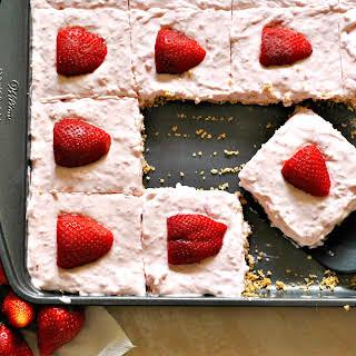 Strawberry Cream Pie Bars.