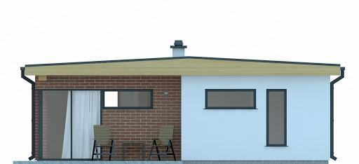G255 - Budynek rekreacji indywidualnej - Elewacja tylna