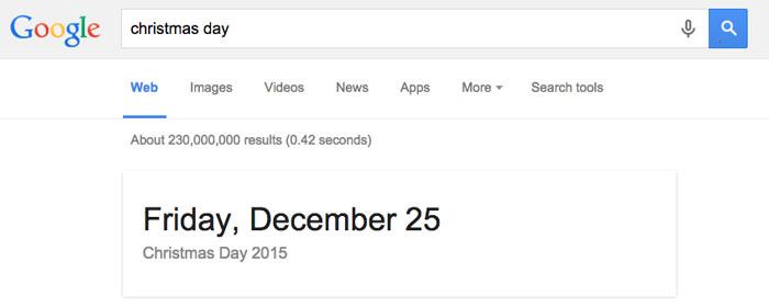 Google tips and tricks - holiday