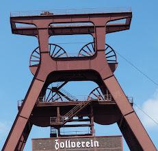 Photo: Zollverein; Doppelbock-Förderturm