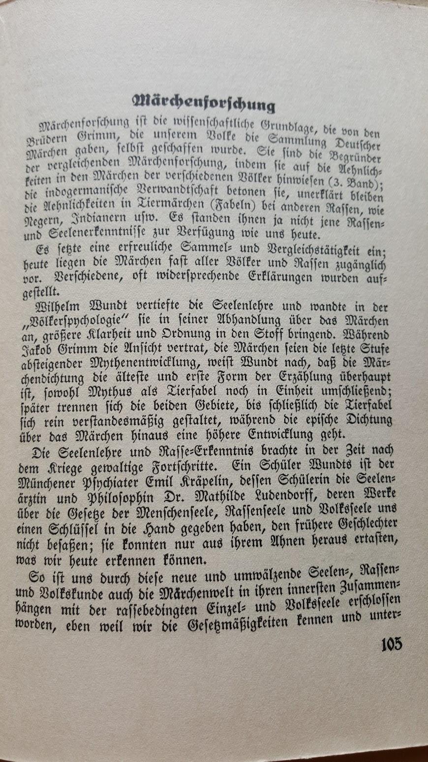 Deutsche Märchen und ihr Deutung, Ein Volksbuch aus der Nazizeit, 1934 - Märchenforschung