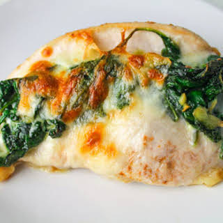 Baked Spinach Provolone Chicken Breasts.