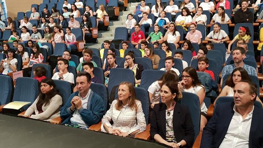 Certamen de bilingüismo celebrado hoy en el IES Santo Domingo, en El Ejido.