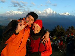 Photo: Christina & Ralf vor dem Dhaulagiri Himal