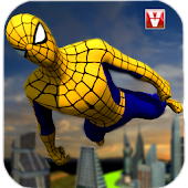 Super Spider Flying Hero